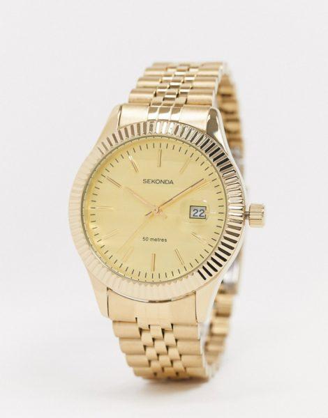 Sekonda - Exklusiv bei ASOS - Uhr mit goldenem Armband