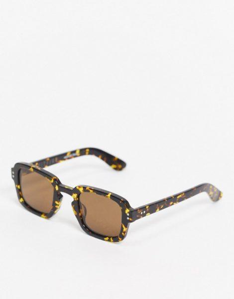 Spitfire - Cut Fifteen - Eckige Sonnenbrille in Dunkelbraun