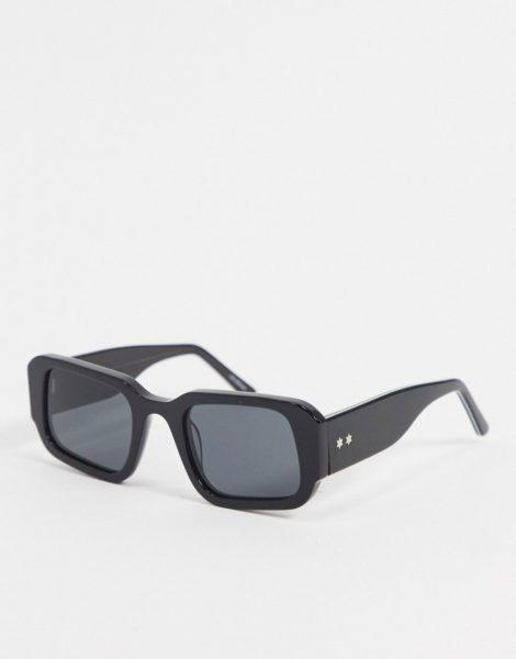 Spitfire - Cut Five - Eckige schwarze Retro-Sonnenbrille