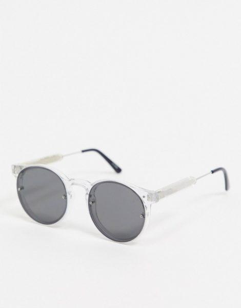 Spitfire - Post Punk - Runde, transparente Sonnenbrille