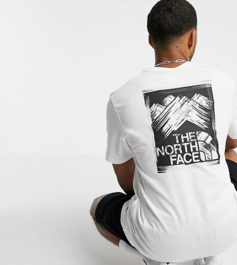 The North Face - Stroke Mountain - T-Shirt in Weiß, exklusiv bei ASOS
