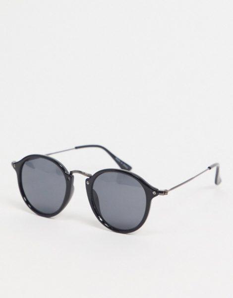 Vero Moda - Runde Sonnenbrille in Schwarz