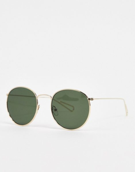 Weekday -Runde Sonnenbrille mit Goldrahmen-Mehrfarbig