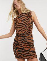 AllSaints - Hali Zephyr - Minikleid mit Tigermuster-Mehrfarbig