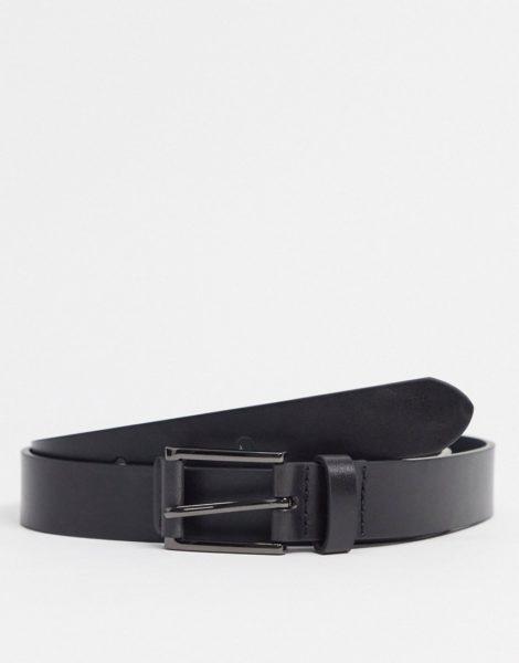 Burton Menswear - Schwarzer Gürtel mit Zierlaschen