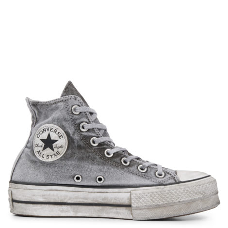 Chuck TaylorAll Star Lift Smoked Canvas High Top Grey