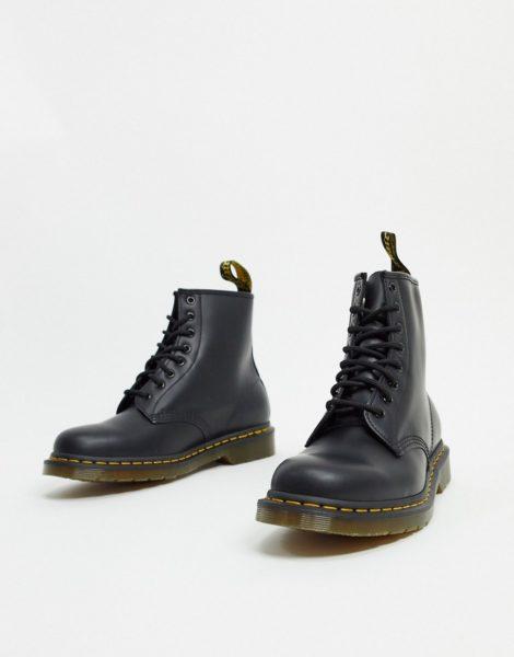 Dr Martens - 1460 - Schwarze Stiefel mit 8 Ösen