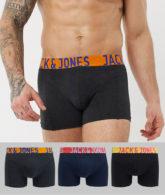Jack & Jones - Unterhosen mit Logobund im 3er-Pack in Schwarz und Marineblau-Mehrfarbig