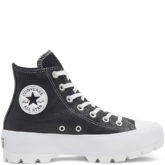 Lugged Leather Chuck Taylor All Star Black