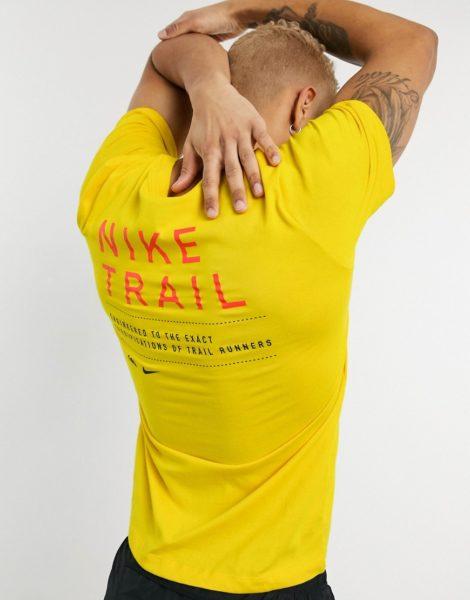 Nike Running -Trail - T-Shirt in Gelb