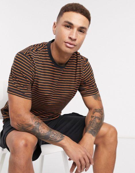 Only & Sons - T-Shirt mit Streifen in Schwarz