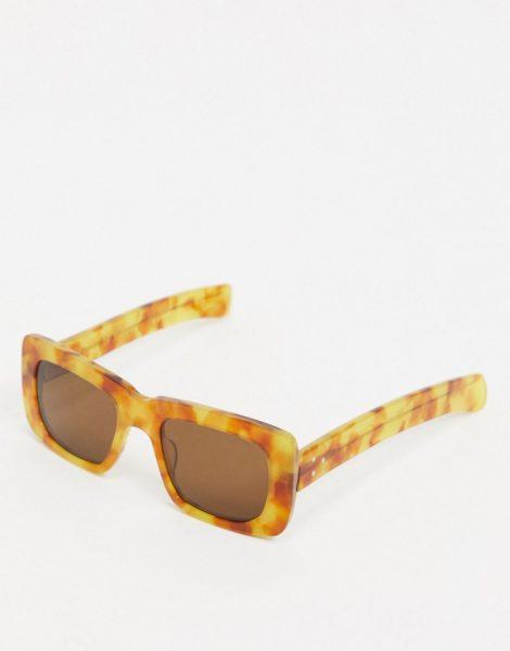 Spitfire - Cut Thirteen - Eckige Sonnenbrille in Schildpattoptik-Braun