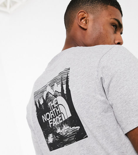 The North Face - Red Box Celebration - T-Shirt in Grau, exklusiv bei ASOS