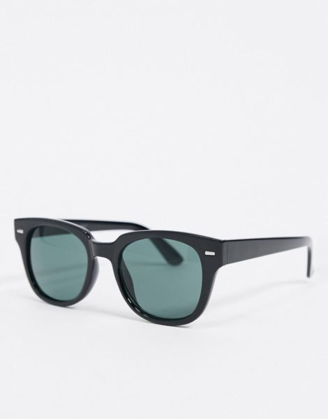 AJ Morgan - Eckige Sonnenbrille in Schwarz