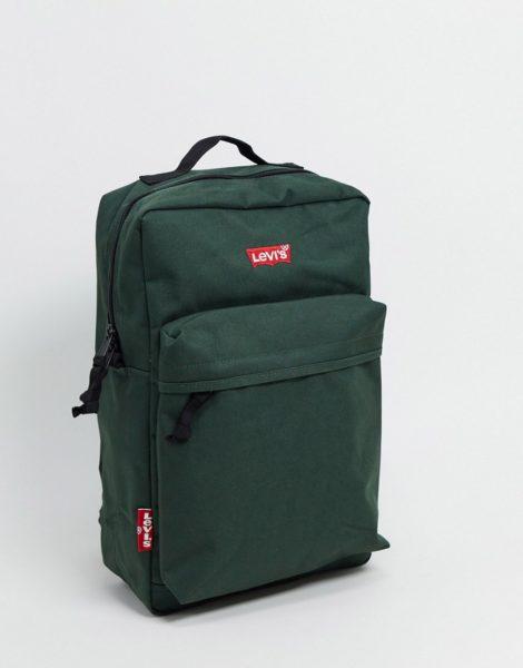 Levi's - Grüner Backpack mit kleinem Fledermauslogo