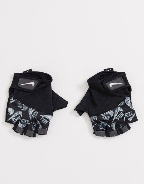 Nike Training - Womens Elemental Fitness - Handschuhe mit Aufdruck-Schwarz