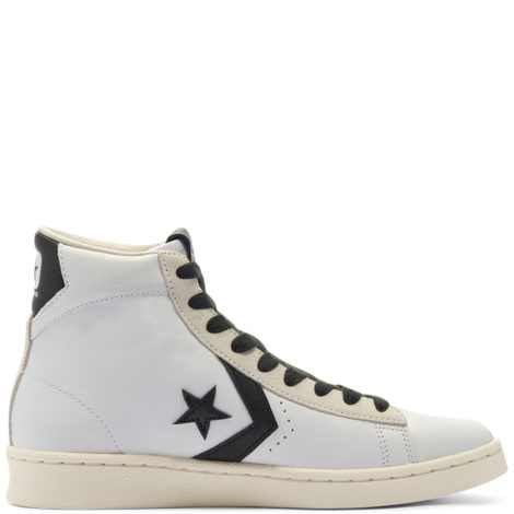 Pro Leather Mid White, Black