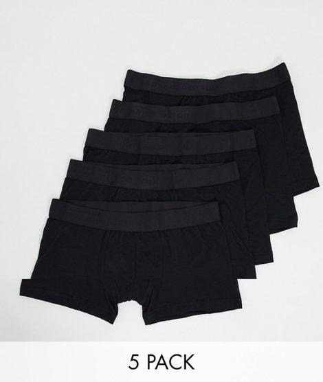 Selected Homme - 5er Packung schwarze Unterhosen