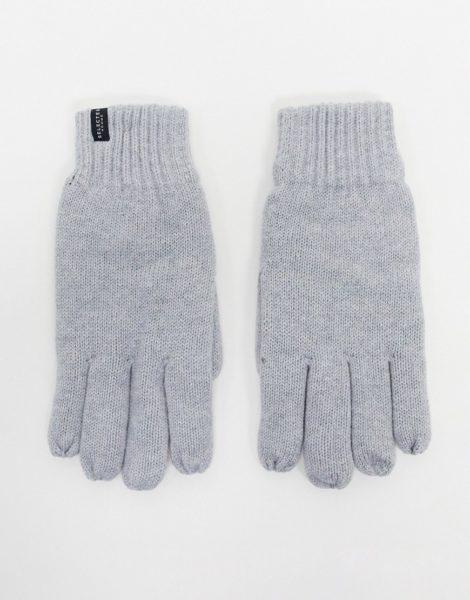 Selected Homme - Gestrickte Handschuhe in Grau-Braun