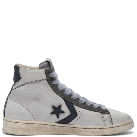 Smoke In Pro Leather High Top Navy