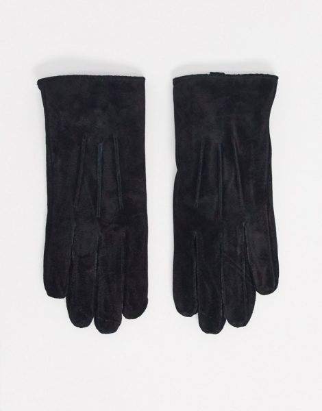 Barney's Originals - Schwarze Handschuhe aus echtem Leder