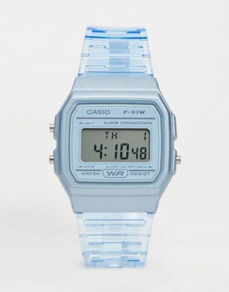 Casio - F-91WS-2EF - Digitale Armbanduhr in Blau