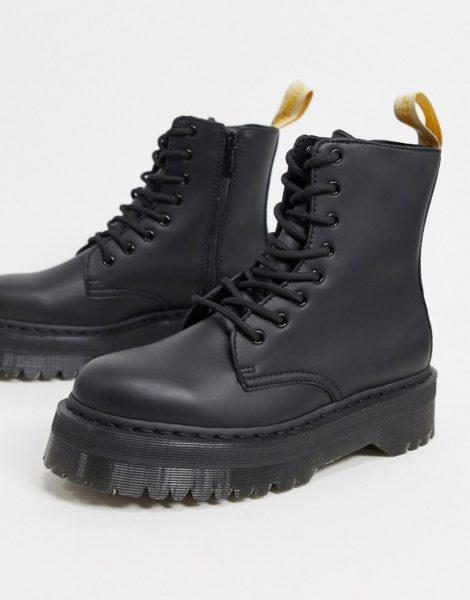 Dr Martens - Vegan Jadon - Einfarbige Stiefel in Schwarz