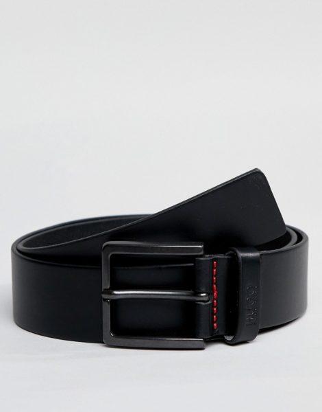HUGO - Gionio - Schwarzer Ledergürtel