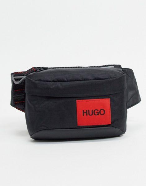 HUGO - Kombinat - Gürteltasche mit Logo in Schwarz