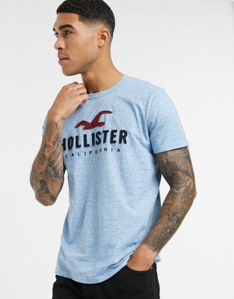 Hollister Core Tech - T-Shirt mit Logo in Blau