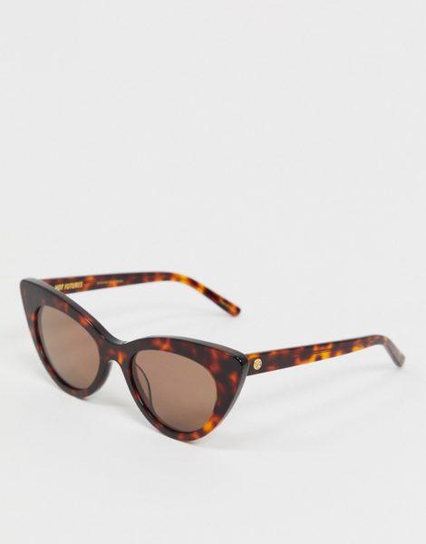 Hot Futures - Cat-Eye-Sonnenbrille in Schildpattoptik-Braun