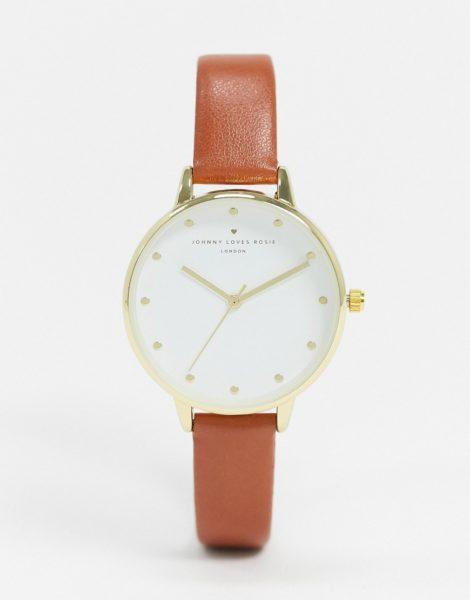 Johnny Loves Rosie - Uhr mit braunem Armband