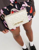 Love Moschino - Gesteppte Tasche in Creme-Cremeweiß