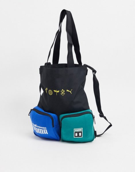 Puma x The Hundreds - Schwarze Tasche mit Logo