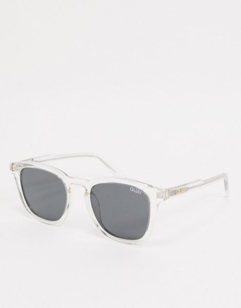 Quay Jackpot - Transparente Retro-Sonnenbrille für Herren