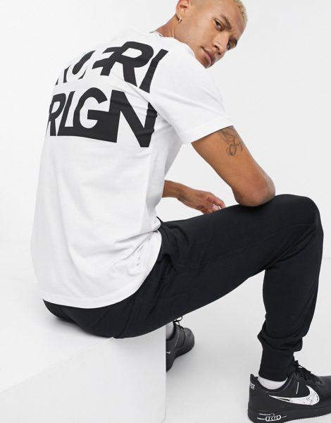 True Religion - Weißes T-Shirt mit Print auf der Rückseite