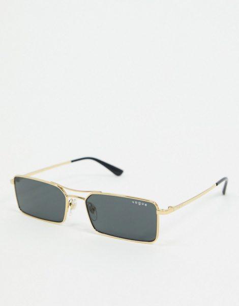Vogue - Rechteckige Sonnenbrille in Gold, 0VO4106SM