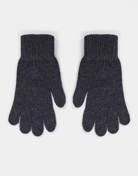 ASOS DESIGN - Touchscreen-Handschuhe aus recyceltem Polyester in Anthrazit-Grau