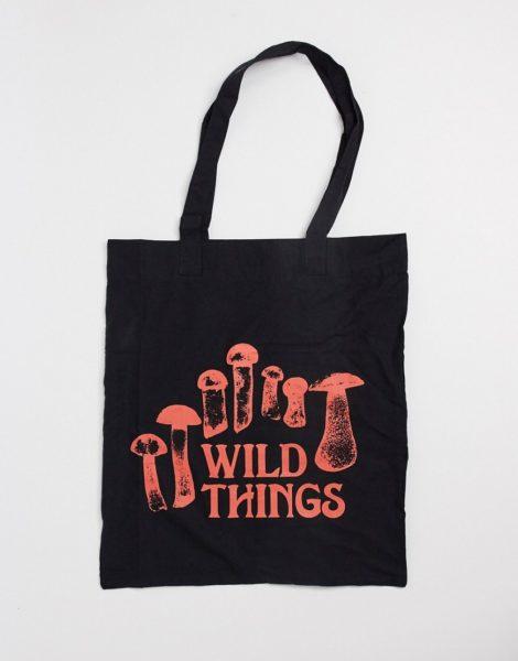 ASOS DESIGN - Tragetasche mit Wild Things-Print aus schwarzem Leinen