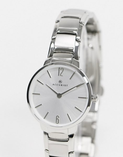Accurist - Silberne Armbanduhr