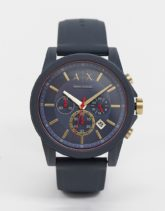 Armani Exchange - AX1335 - Outerbanks - Uhr mit Silikonarmband-Grau