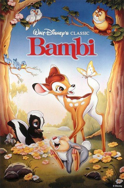 "Art for the home Leinwandbild ""Bambi"", Disney, 50 x 70 cm"