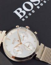 BOSS - Flawless - Uhr mit gewebtem Armband 1502553-Gold