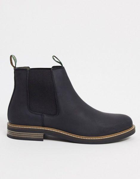 Barbour - Farsley - Chelsea Stiefel aus schwarzem Leder