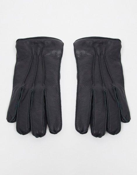 Bolongaro Trevor - Handschuhe aus gemasertem Leder-Schwarz
