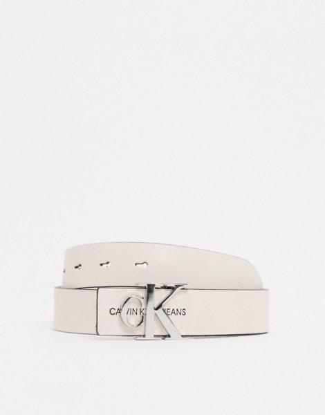 Calvin Klein - Gürtel mit Monogramm-Schnalle in Rosa