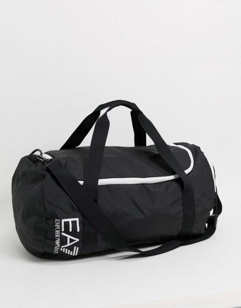 EA7 - Schwarze Gym-Tasche mit Logo