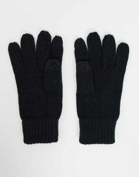 French Connection - Touchscreen-Handschuhe in Schwarz-Grau