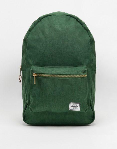 Herschel Supply Co - Settlement - Dunkelgrüner Backpack mit Kreuzschraffur