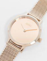 Hugo - Cherish - Goldfarbene Uhr mit Netzarmband, 1540085